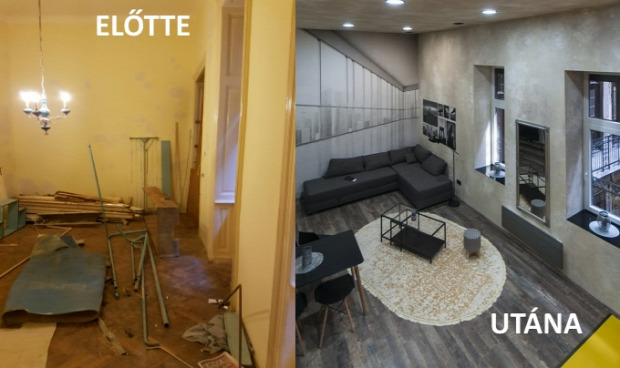 garzon budapest olvasói átalakítás előtte-utána felújítás galéria