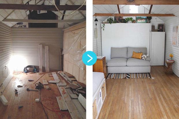 kis terek kis lakás átalakítás helykihasználás