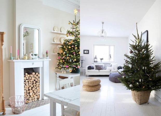 karácsony skandináv stílus otthon dekor