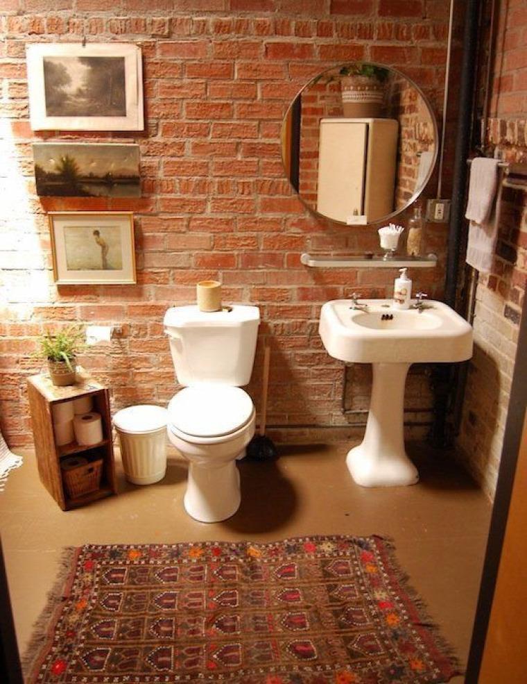 téglafal konyha fürdőszoba egyedi