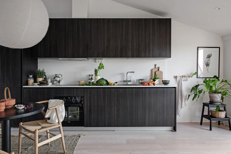 kis lakás kis terek helykihasználás skandináv stílus tetőtér