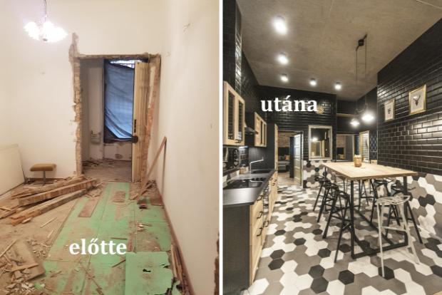 olvasói átalakítás belváros minimál barokk stílus indusztriál felújítás előtte utána