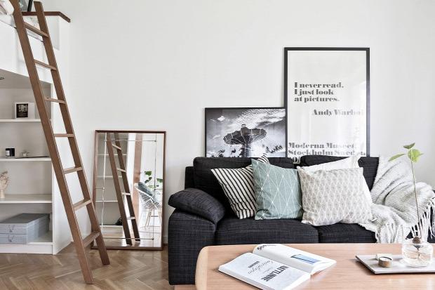 galériaágy kis lakás helykihasználás