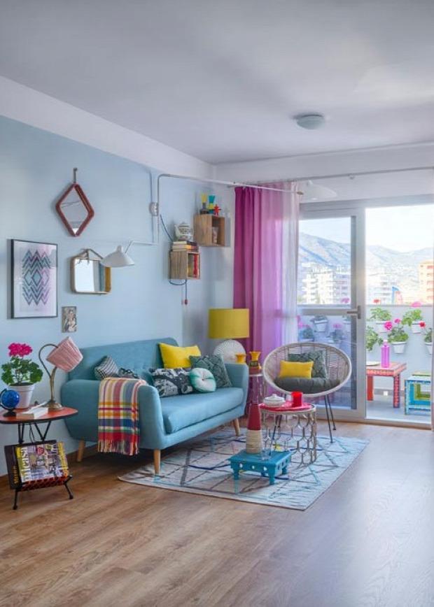 mediterrán  nagyvilág színek otthonos vidám stílus