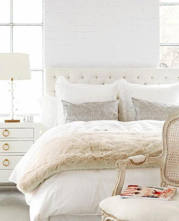 pezsgőszín hálószoba inspiráció meleg hatás elegancia bézs pasztell