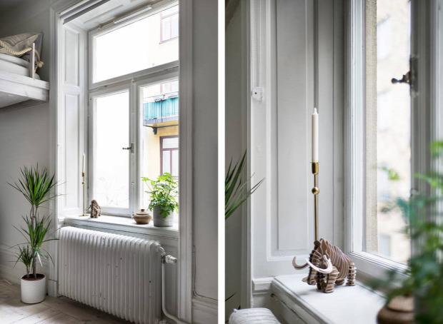 kis lakás garzon helykihasználás praktikus kialakítás skandináv stílus szürke falak