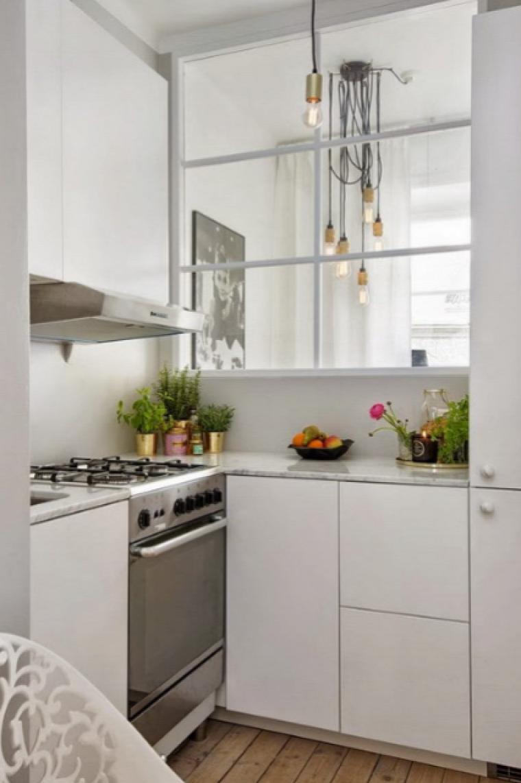 kis lakás skandináv stílus garzon amerikai konyhás nappali