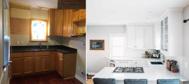 konyha felújítás átalakítás előtte utána inspiráció