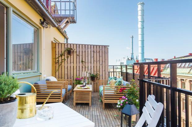 kis lakás kis terek otthonos erkély