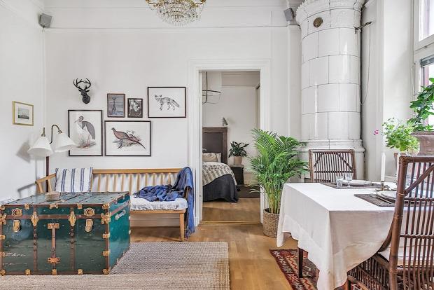 skandináv stílus növények a lakásban otthonos kis terek