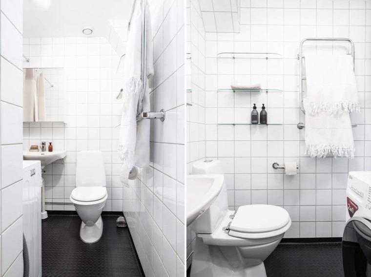 kis lakás kis terek térelválasztás skandináv stílus