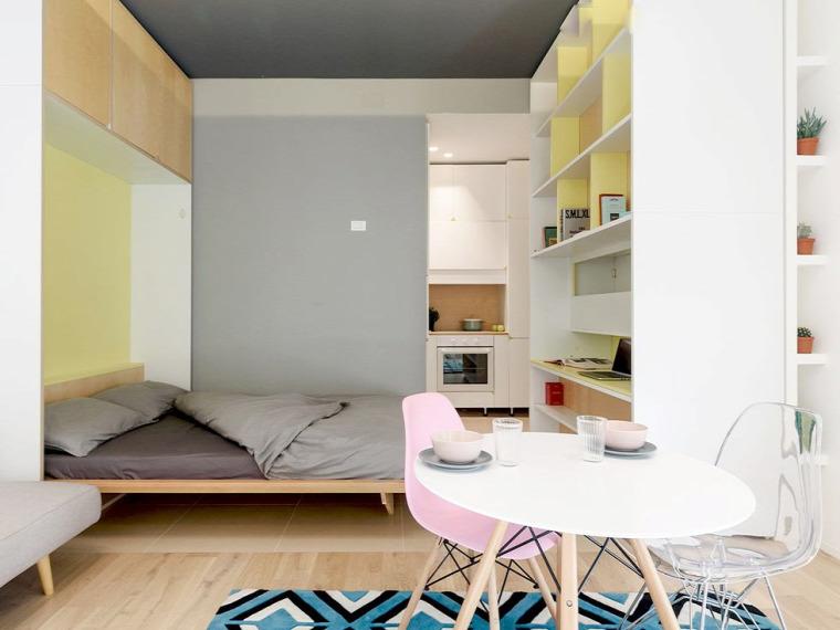 kis lakás kis terek praktikus kialakítás mobilfal