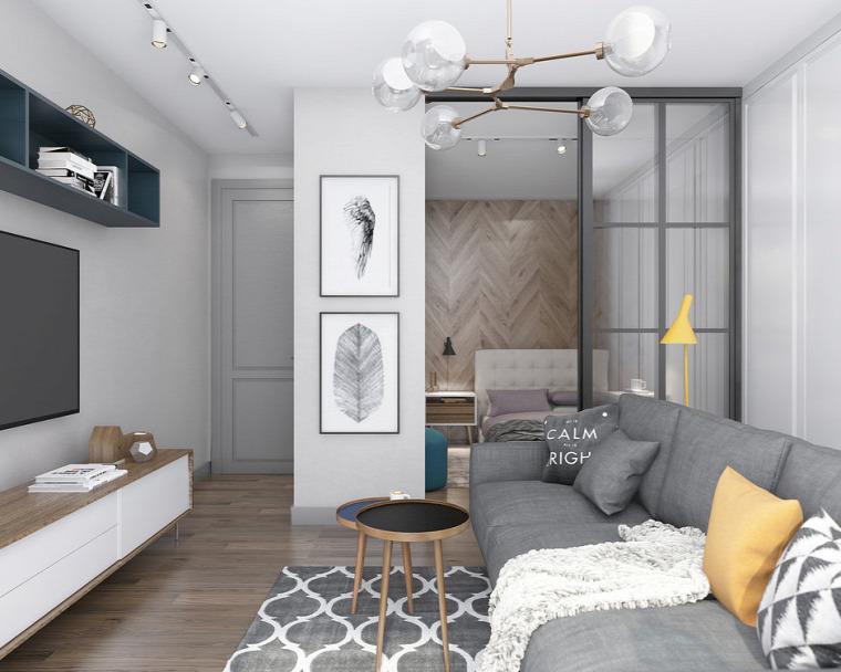kis lakás helykihasználás otthonos gyönyörű inspiráció kreatív kialakítás üvegajtók beépített loggia