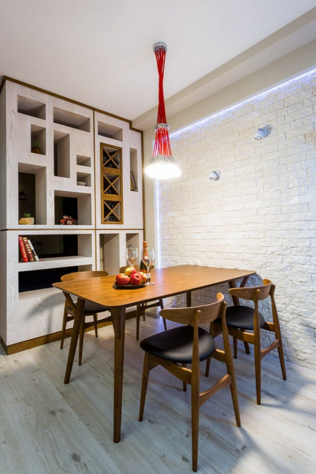 kis lakás kis terek praktikus kialakítás belső építészet belső dizájn garzon alvókuckó