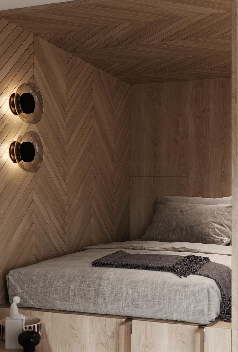 kis lakás kis terek lakberendezés skandináv stílus