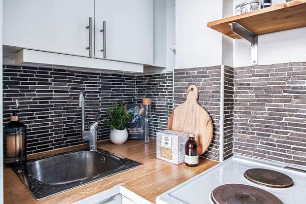 kis lakás egy légtér garzon skandináv stílus helykihasználás