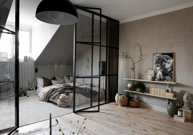skandináv stílus tetőtér