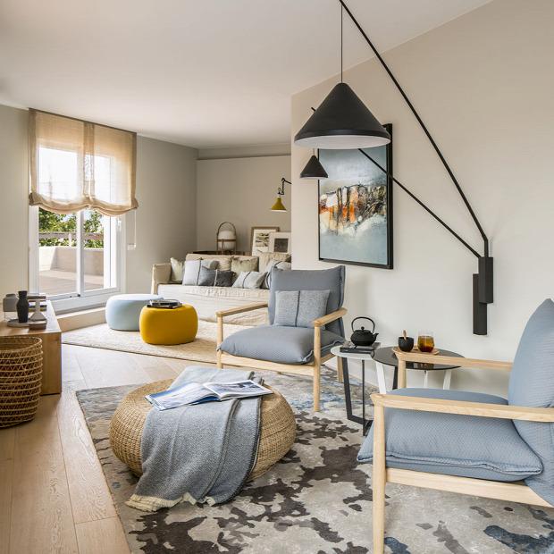 nagy lakás modern stílus otthonos etalon cementlap fa