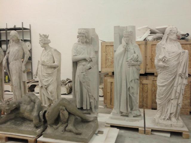 Román Csarnok Szépművészeti Múzeum szobrászat restaurálás