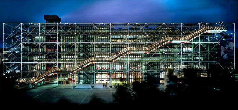 Párizs múzeumépítészet politika Centre Pompidou