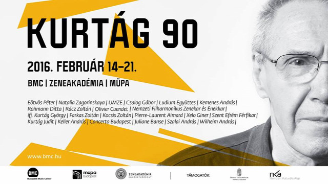 Kurtág 90 Kurtág György BMC Zeneakadémia