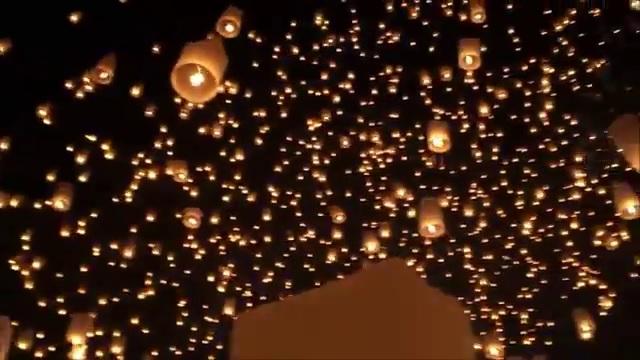 lámpás Thaiföld ég látvány fesztivál érdekes videó