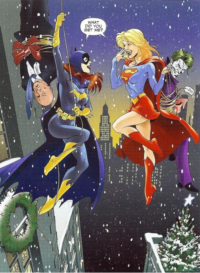 Csomagolás Karácsony meglepetés ajándék batgirl denevér