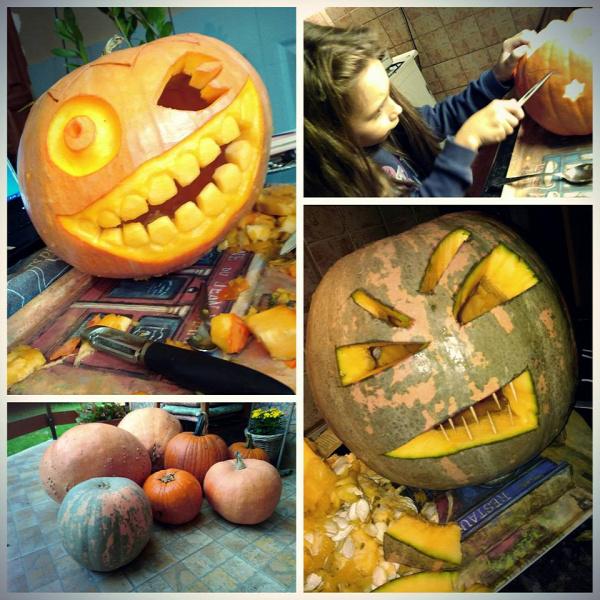 ősz halloween tökfaragás
