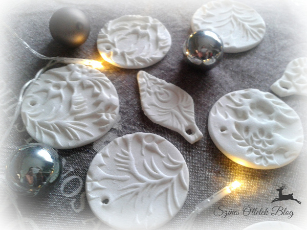 karácsony karácsonyfadísz csináld magad DIY porcelángyurma házi porcelángyurma házi gyurma gyurma recept