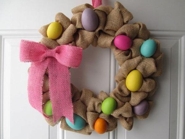 húsvét koszorú ajtódísz tavasz