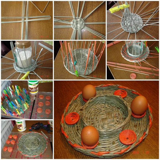 DIY Woven Paper Easter Tray