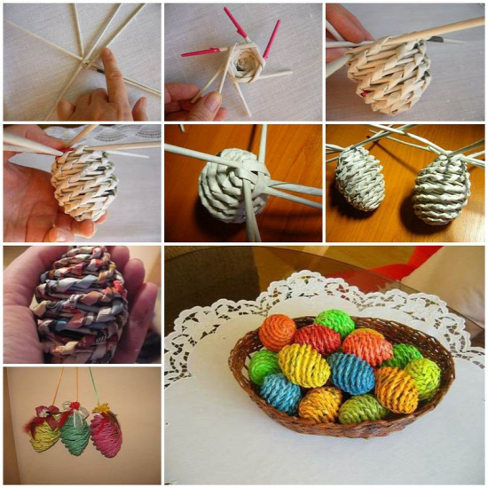 DIY Woven Paper Easter Eggs 1
