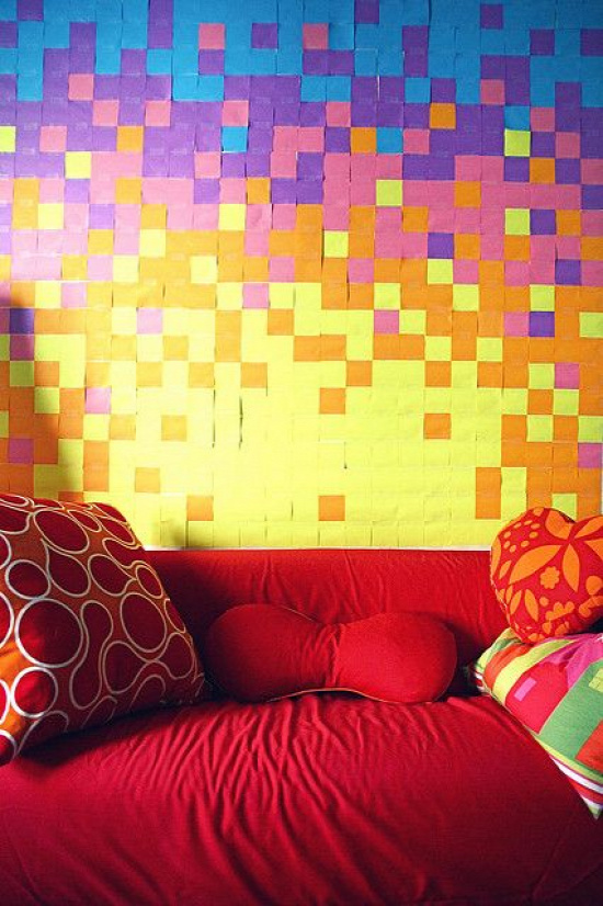 Post-it wall by Miss Kels, via Flickr