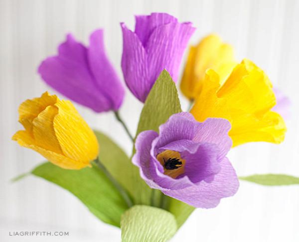 Pretty Crepe Paper Tulips