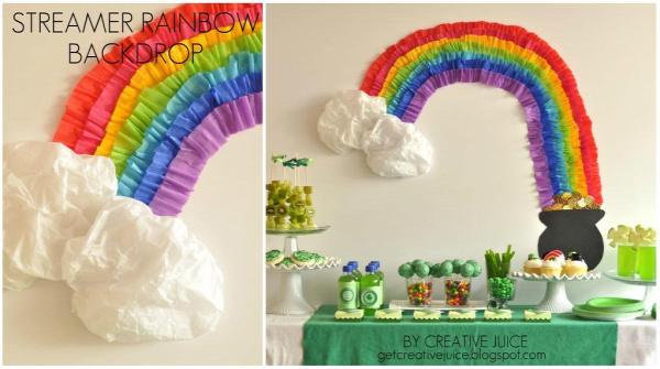 Rainbow Party Streamer Backdrop
