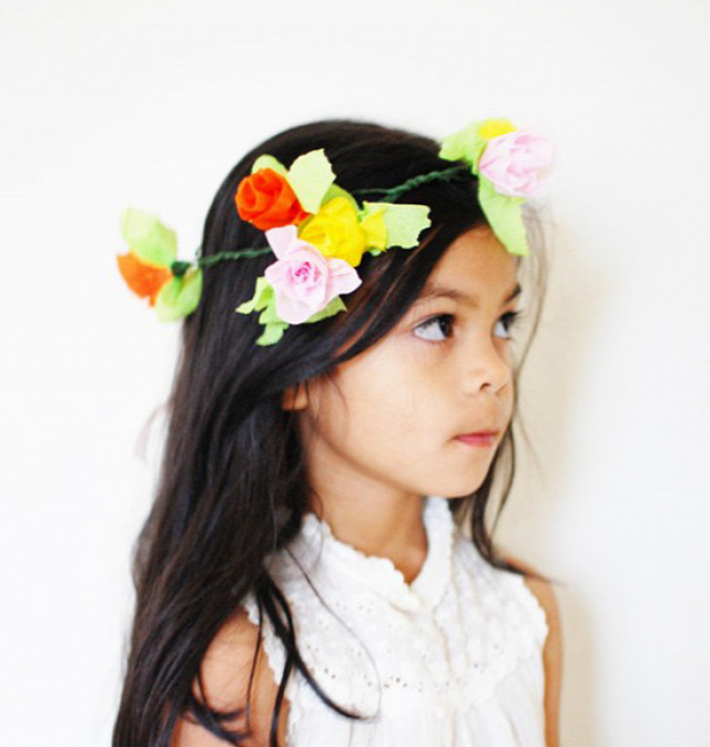 Crepe Paper Floral Crown