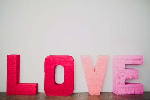 Giant Fringe LOVE Letters
