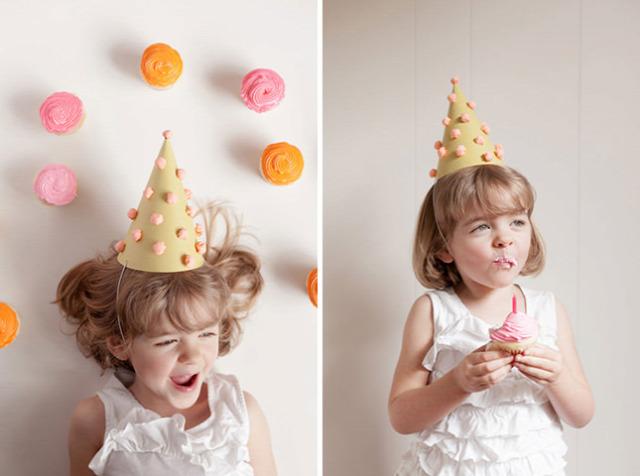 Paper Pom Pom Party Hats