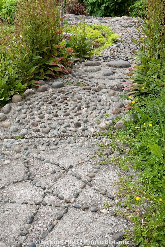 Reflexology foot path with stones for messsaging feet