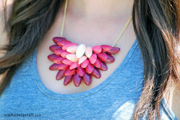 Pistachio Shells Necklace