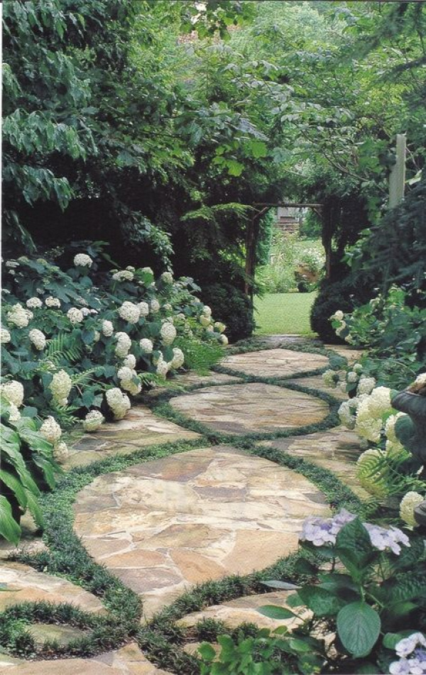 Pathway - I have pinned many a path ideas but this one...wow...this one REALLY speaks to my soul.
