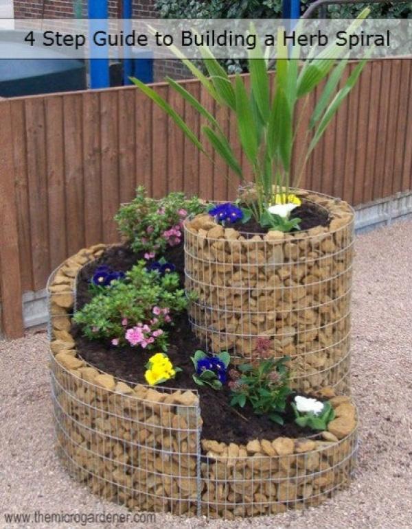 35+ Creative DIY Herb Garden Ideas --> DIY Herb Spiral Garden