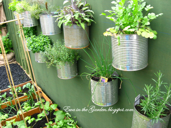 35+ Creative DIY Herb Garden Ideas --> DIY Herb Garden On The Wall