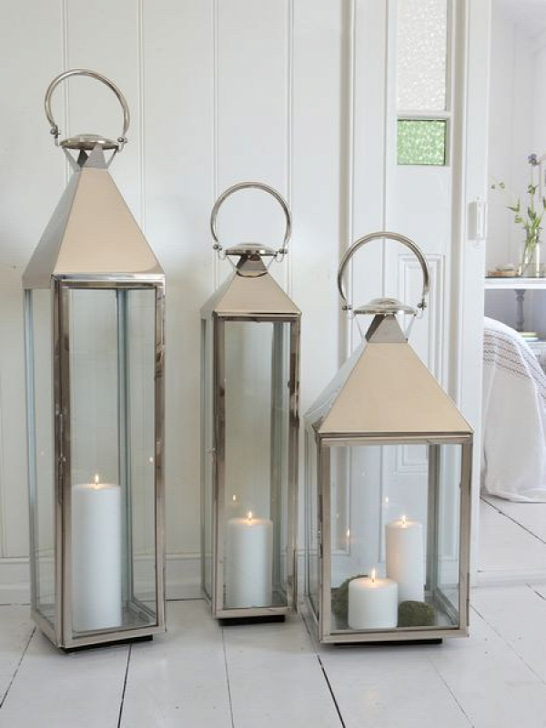 Large Outdoor Hanging Lantern | Stainless Steel Lanterns | Metal Lanterns | Stainless Lanterns