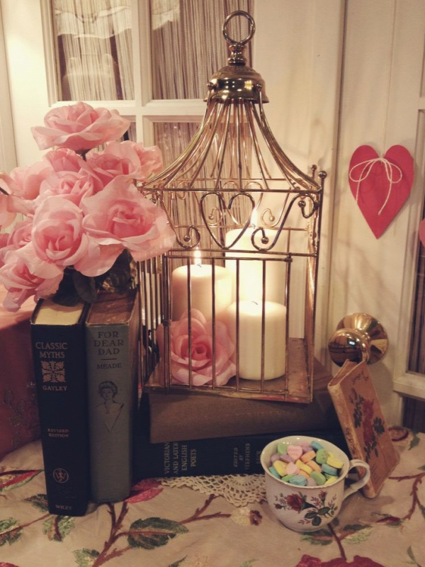 decorative bird cage romantic decor: I would love to make my own bird cage with candles but bigger