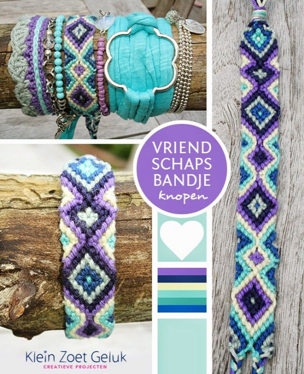 Klein Zoet Geluk: Vriendschapsbandje knopen.  Lots of creativity on this blog :)