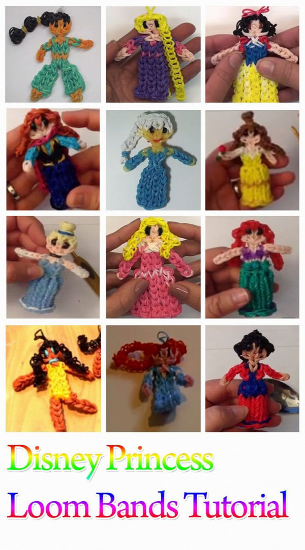 DIY Disney Princess Loom Bands Tutorials