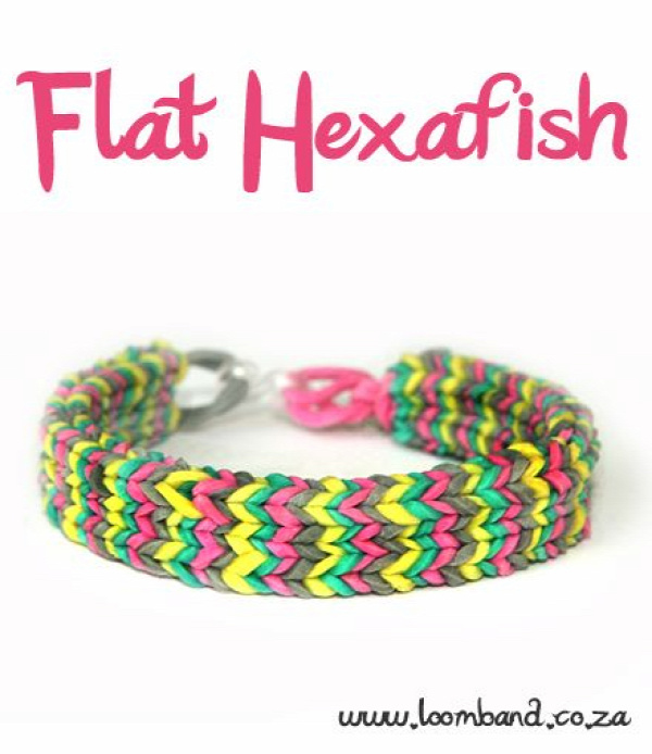Flat Hexafish loom band bracelet tutorial, instructions and videos on hundreds of loom band designs. Shop online for all your looming supplies, delivery anywhere in SA.