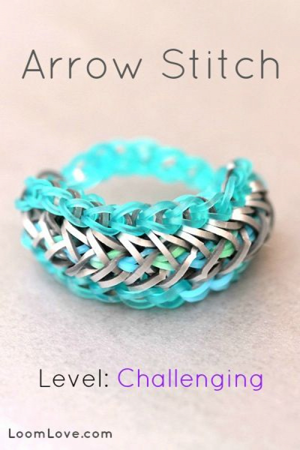 One of my favorite loom band ( rainbow loom ) patterns :p - More for loom bands visit: http://www.overtherainbowloombands.com