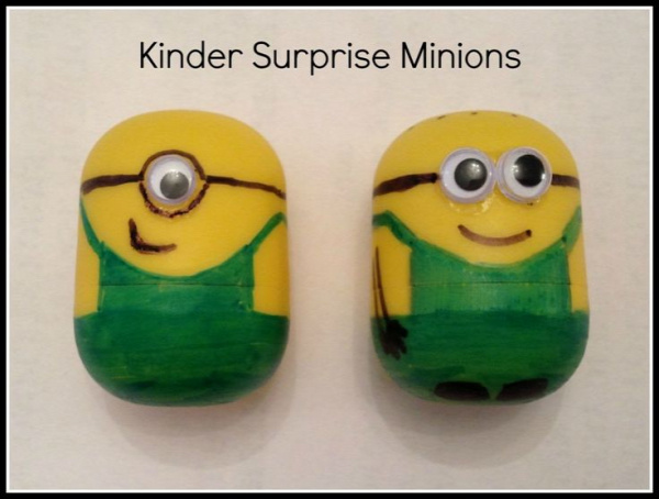 How to make Minions (from kinder eggs)